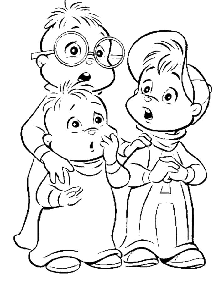 Kolorowanki Kolorowanki Alvin I Wiewiorki Do Druku Dla Dzieci I