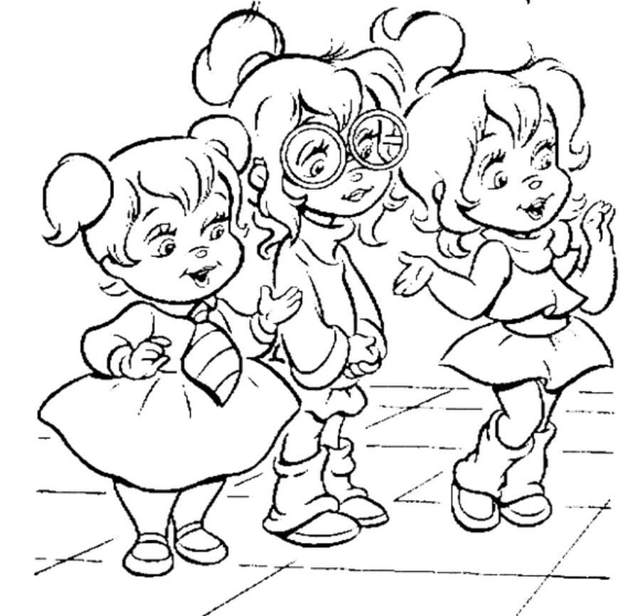 Dibujos Para Colorear Alvin Y Las Ardillas Imprimible Gratis Para