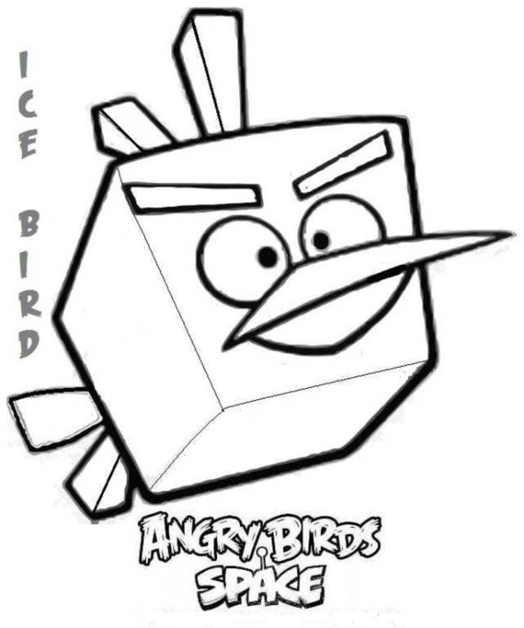 Kolorowanki: Angry Birds Space do druku dla dzieci i dorosłych
