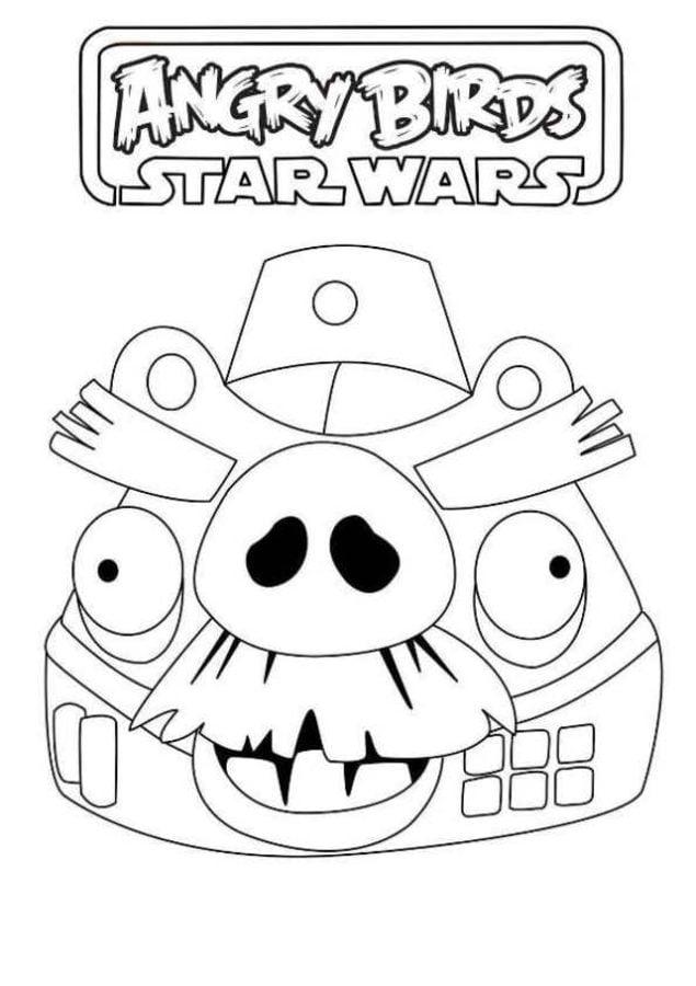 Ausmalbilder Ausmalbilder Angry Birds Star Wars Zum Ausdrucken