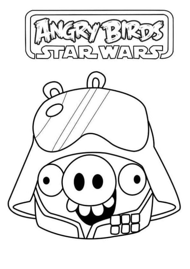 ANGRY BIRDS STAR WARS coloring pages - 9 free online printables ... | 900x635
