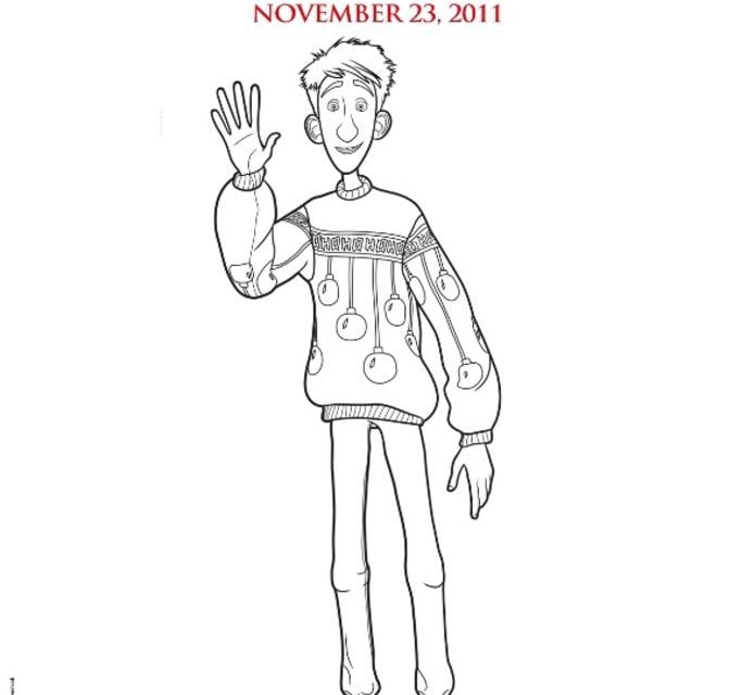Coloring Pages Coloring Pages Arthur Christmas Printable