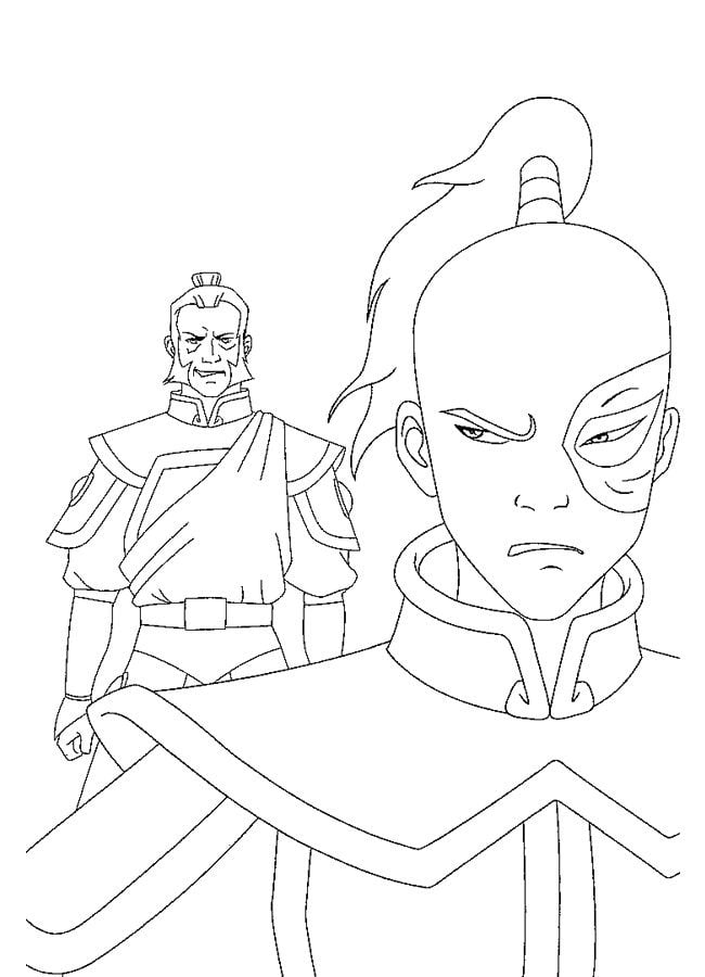 Avatar The Last Airbender Character Drawings And Coloring Pages ... | 900x650