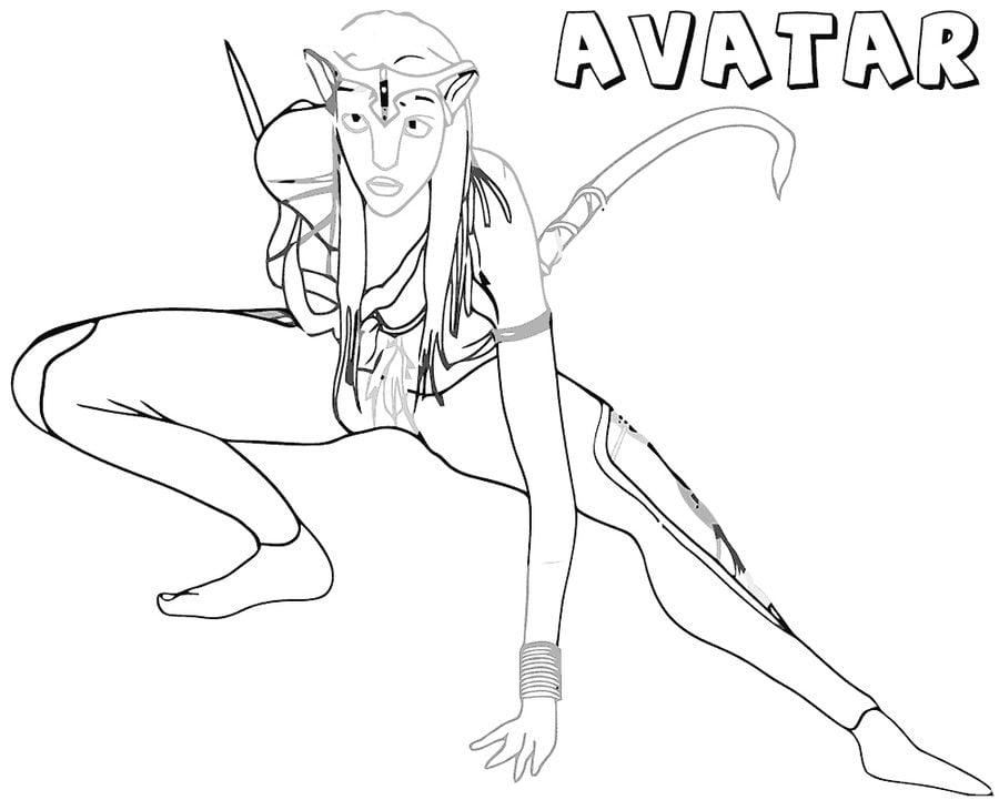 Dibujos para colorear: Avatar imprimible, gratis, para los niños y ...