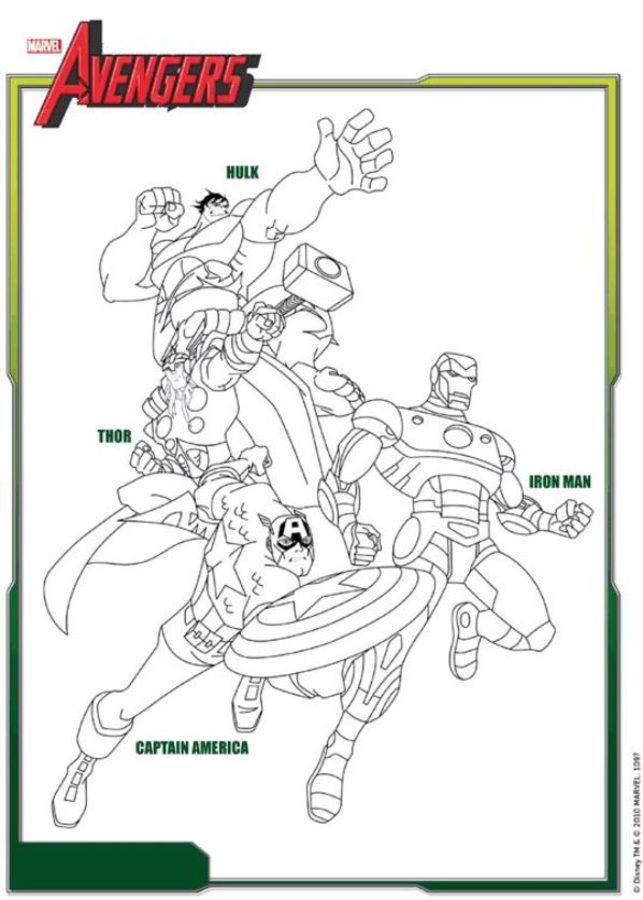 Disegni da colorare avengers stampabile gratuito per for Colorare avengers
