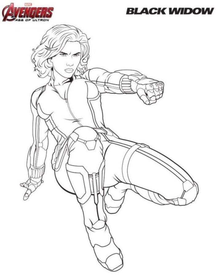 Contemporáneo Dibujos Para Colorear Avengers Black Widow Ideas ...