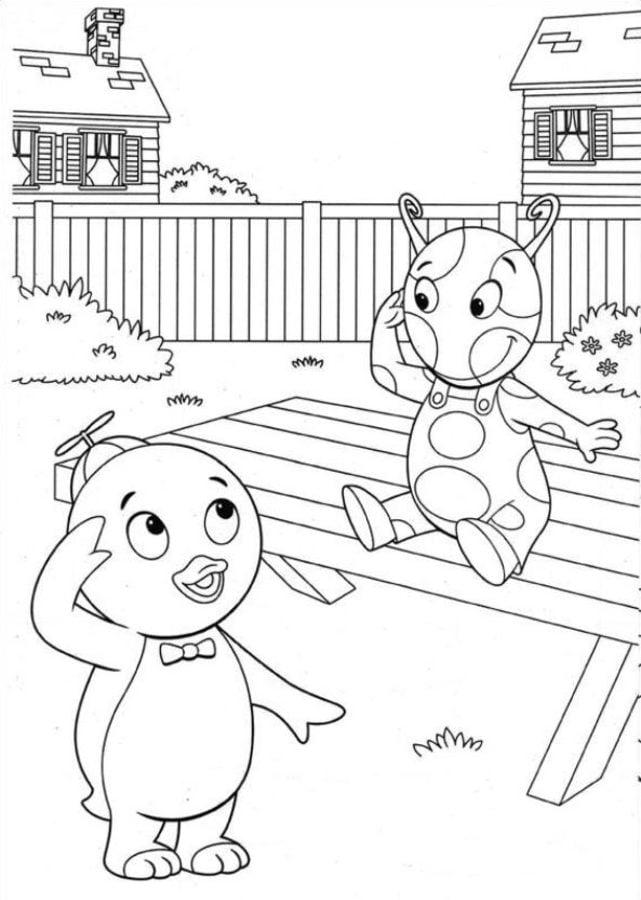 Dibujos para colorear: Backyardigans imprimible, gratis, para los ...