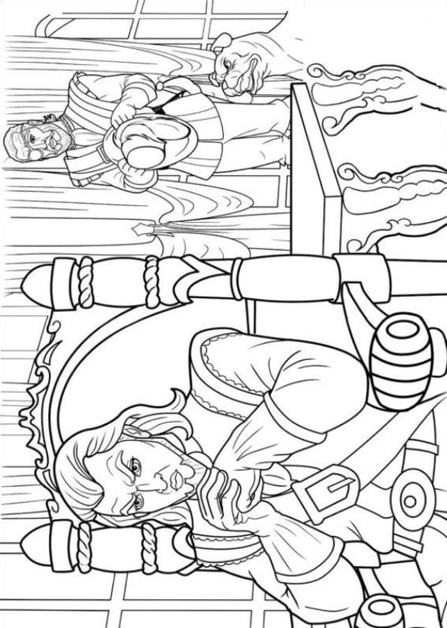 ausmalbilder ausmalbilder barbie und die drei musketiere