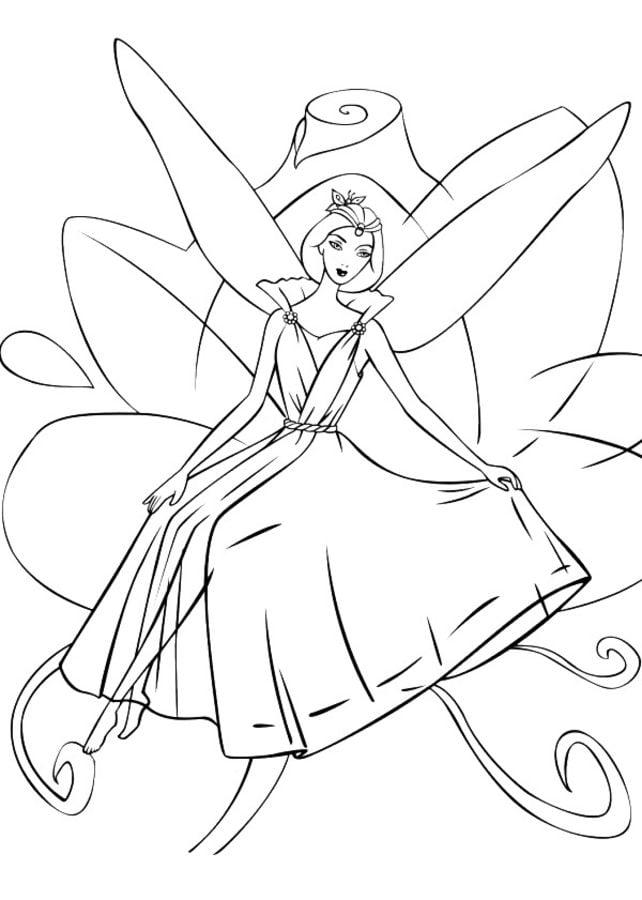Ausmalbilder Ausmalbilder Barbie Fairytopia Zum Ausdrucken