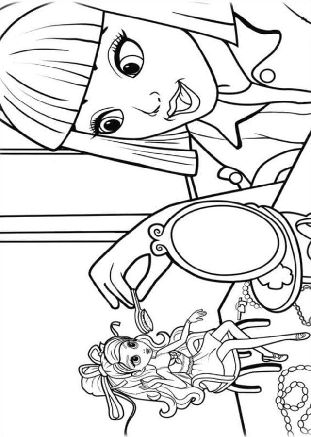 Ausmalbilder Ausmalbilder Barbie Präsentiert Elfinchen Zum