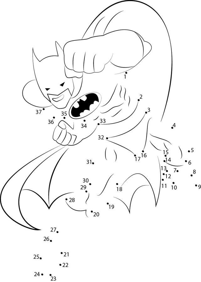 Dot To Dot Worksheets Elementary : Unir puntos batman imprimible gratis para los niños y