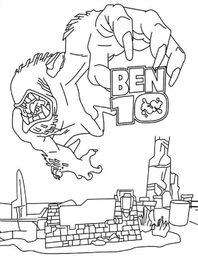 Ausmalbilder: Ben 10 zum ausdrucken, kostenlos, für Kinder und ...