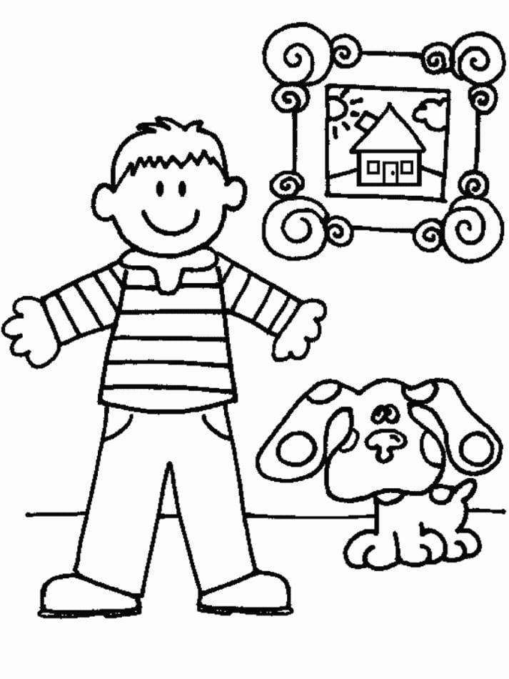 Dibujos para colorear: Las pistas de Blue imprimible, gratis, para ...