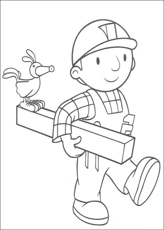Bob The Builder Birthday Coloring Pages - Coloring Home | 900x643