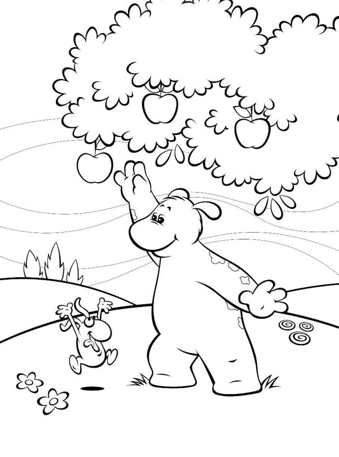 Coloring pages Big Small printable for kids adults free