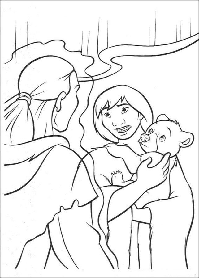 Dibujos para colorear: Hermano oso imprimible, gratis, para los ...