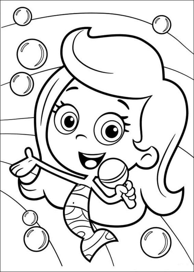 Kolorowanki b belkowy wiat gupik w do druku dla dzieci i for Bubbles guppies da colorare