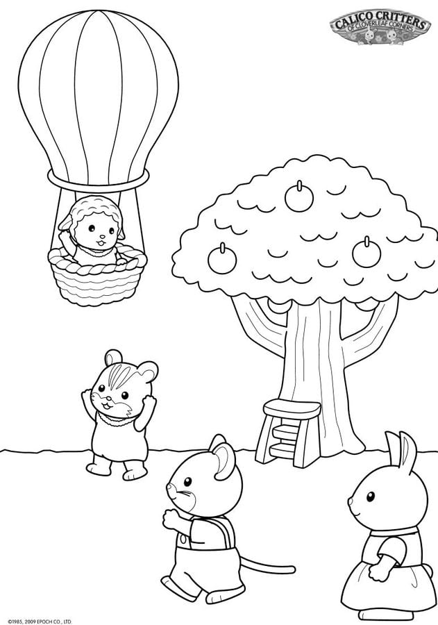 Coloring Pages Sylvanian Families Printable For Kids Adults Free