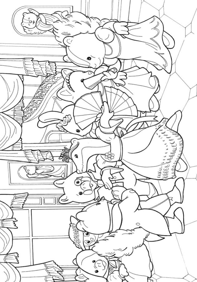 Sylvanian Families Coloring Pages