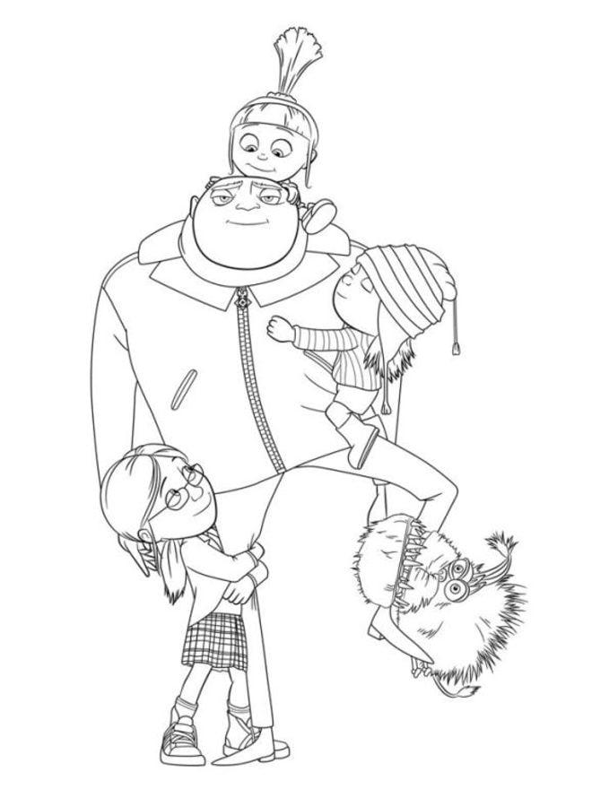 Gru, mi villano favorito Dibujos Animados Dibujos para colorear