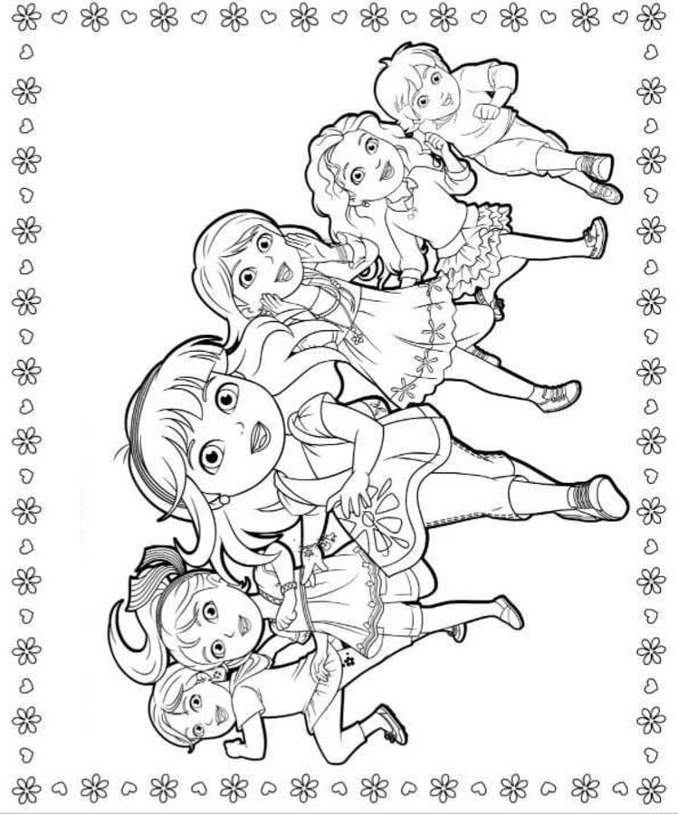 Dora And Friends Cartoons Coloring Pages