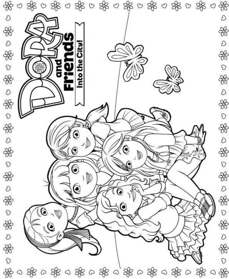 Kolorowanki Dora i przyjaciele
