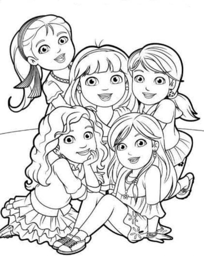 Dibujos Para Colorear Dora Y Sus Amigos Imprimible Gratis Para
