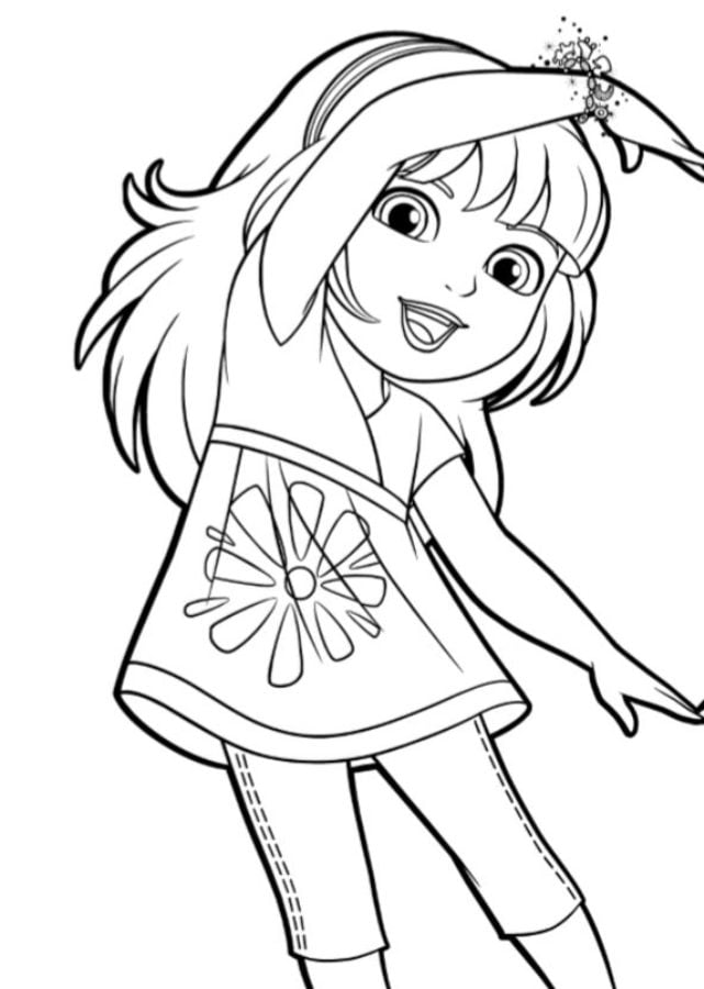 Dora I Love You Valentines Coloring Page | H & M Coloring Pages | 900x641