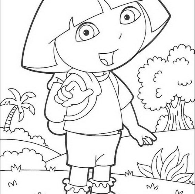 Dora The Explorer Christmas Coloring Pages - GetColoringPages.com | 640x643