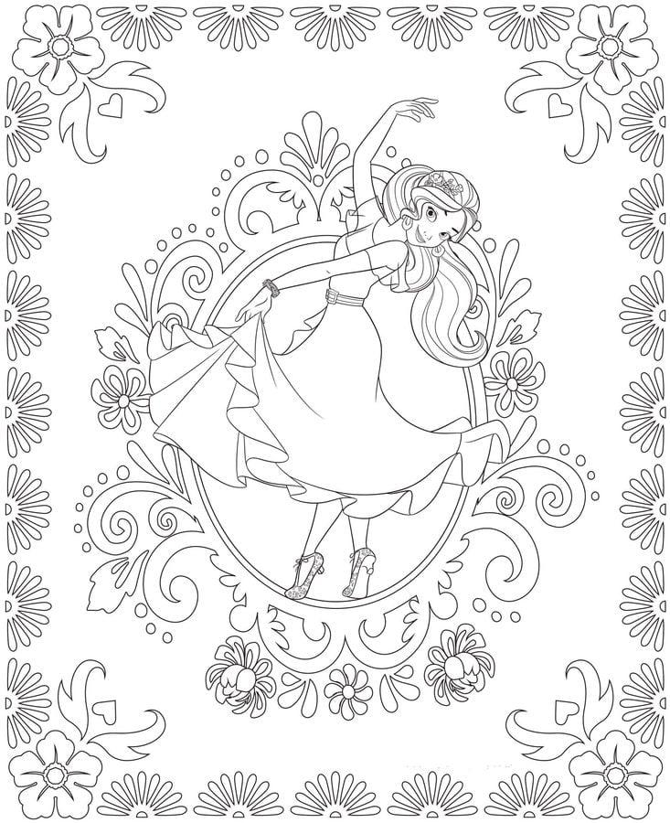 Ausmalbilder: Elena of Avalor zum ausdrucken, kostenlos, für Kinder ...