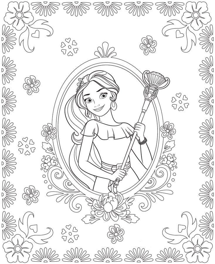 Dibujos para colorear Elena de