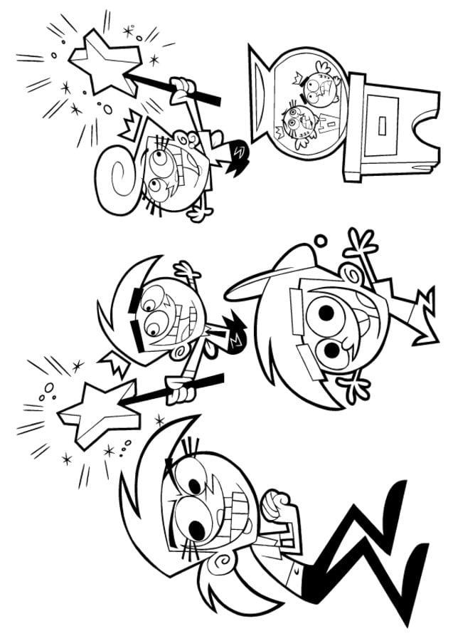 Ausmalbilder: Cosmo & Wanda – Wenn Elfen helfen zum ausdrucken ...