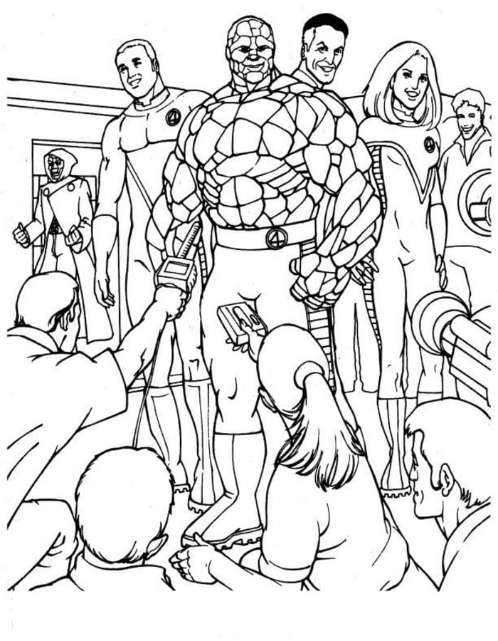 Coloring Pages Coloring Pages Fantastic Four Printable For Kids