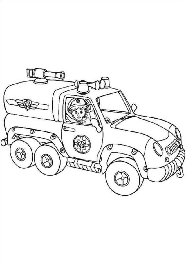 Coloring pages: Coloring pages: Fireman Sam, printable for ...