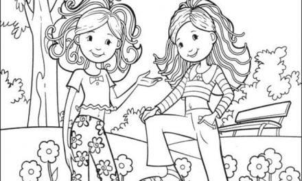 Kolorowanki: Groovy girls