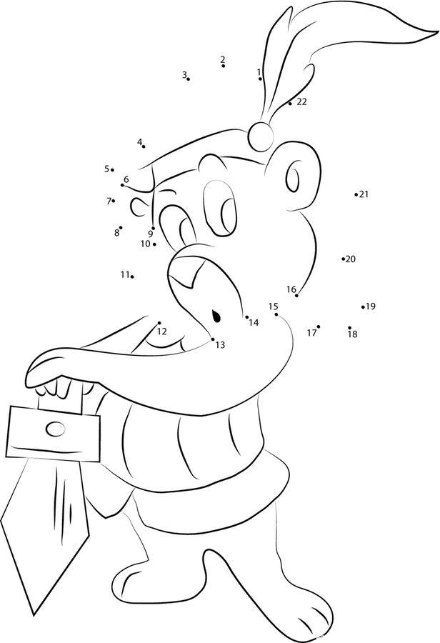 punkt zu punkt gummibärenbande zum ausdrucken kostenlos