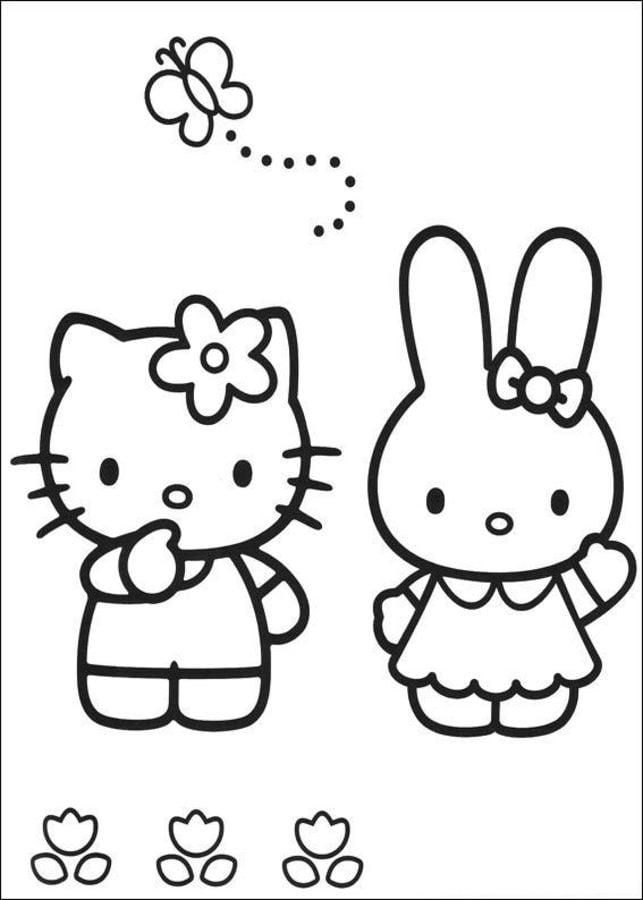 Dibujos Para Colorear Hello Kitty Imprimible Gratis Para Los