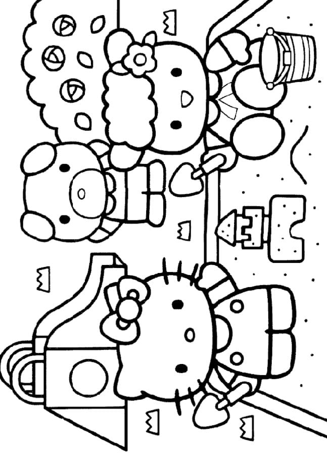 Kolorowanki Kolorowanki Hello Kitty Do Druku Dla Dzieci I Doroslych