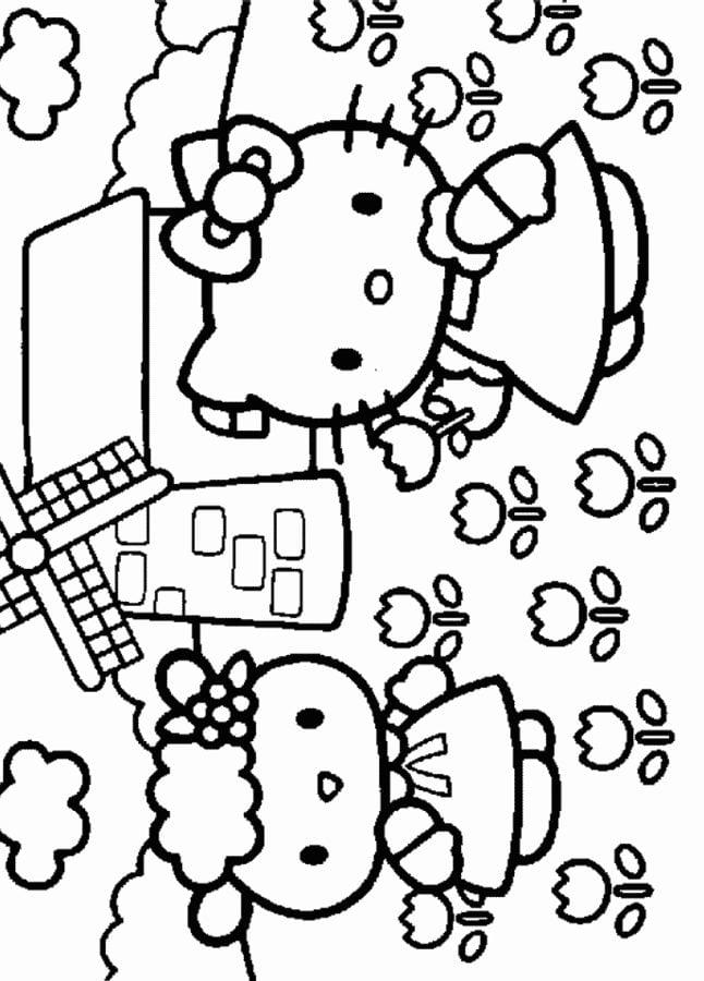 Ausmalbilder Ausmalbilder Hello Kitty Zum Ausdrucken Kostenlos
