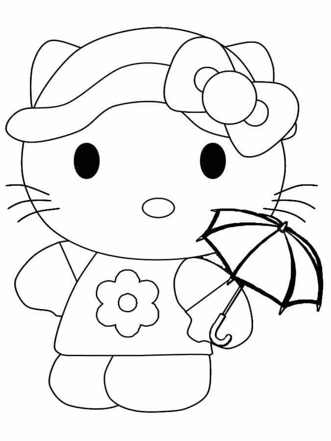 Hello Planse Colorat Kitty Desene