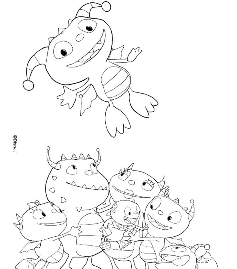 Henry Hugglemonster Cartoons Coloring Pages