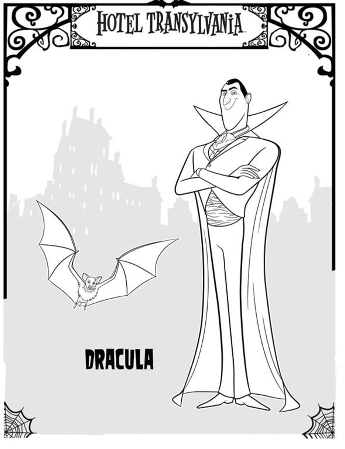 Coloring Pages Coloring Pages Hotel Transylvania Printable For