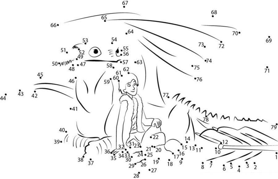 Relier Les Points: Dragons Imprimable, Gratuit, Pour Les Enfants Et Les Adultes