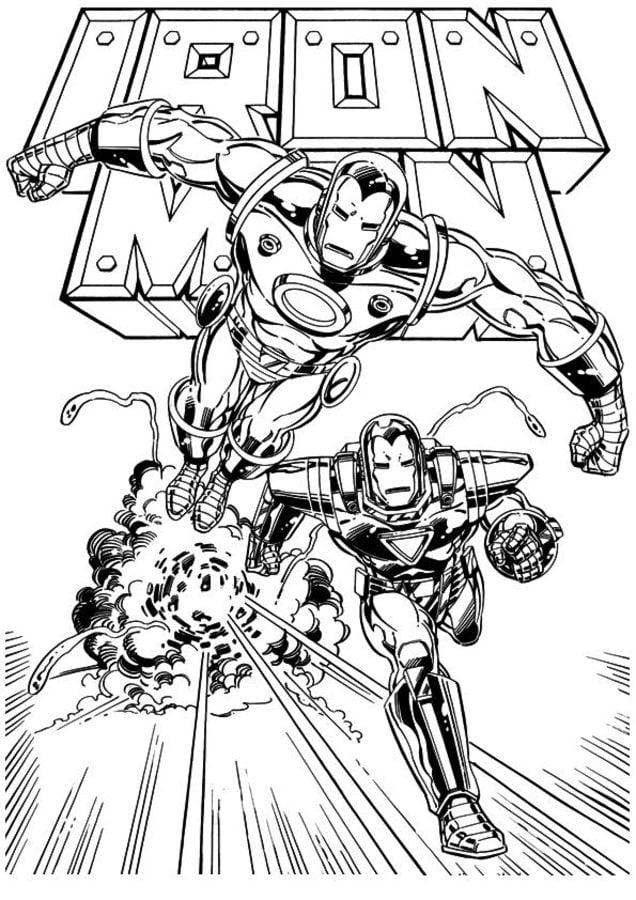 Dibujos para colorear: Iron Man imprimible, gratis, para los niños y ...