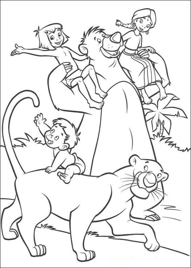 Jungle Book Cartoons Coloring Pages