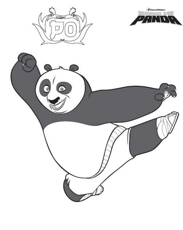 Disegni da colorare kung fu panda stampabile gratuito