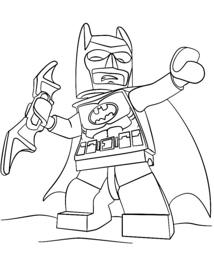 Disegni da colorare Lego Batman