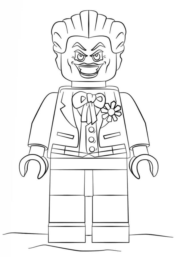 Coloring pages: Lego Batman, printable for kids & adults, free