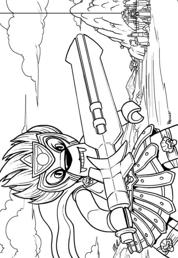 Coloring pages Lego Chima printable for kids adults free