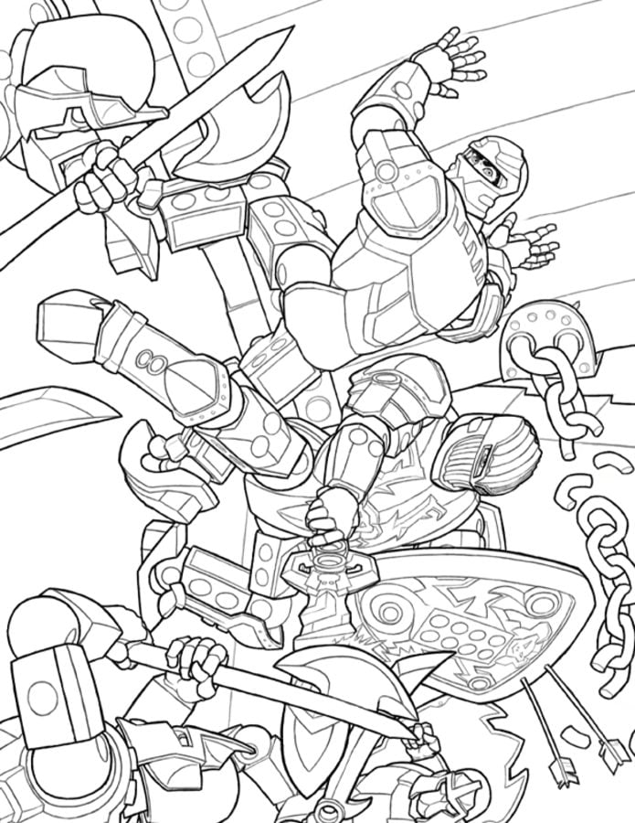 lego knight coloring pages - photo#21